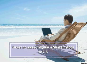 Отчет об инвестирования в Shareinstock №4,5