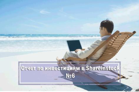 Отчет об инвестировании в Shareinstock №6