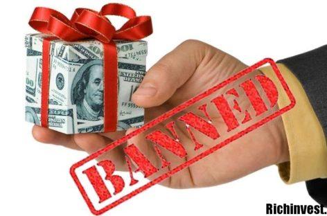 Cysec запрещает бонусы!