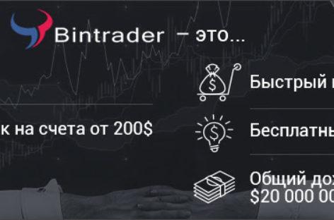 Обзор и отзывы о брокере  бинарных опционов Bintrader