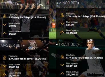 Trustbets  — зарабатывай от 2,1% в день, благодаря ставкам на спорт!